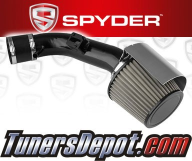 K&N® Air Filter + Spyder® Cold Air Intake System (Black) - 07-12 Nissan Altima 2.5L 4cyl