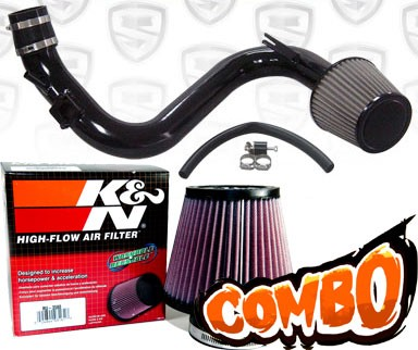 K&N® Air Filter + Spyder® Cold Air Intake System (Black) - 07-13 Mazda Mazdaspeed 3 Turbo 2.3L 4cyl