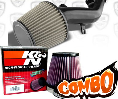 K&N® Air Filter + Spyder® Cold Air Intake System (Black) - 08-10 Pontiac G6 2.4L 4cyl (with Air Pump)