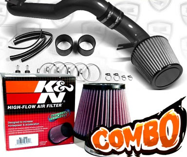 K&N® Air Filter + Spyder® Cold Air Intake System (Black) - 08-12 Honda Accord V6 3.5L