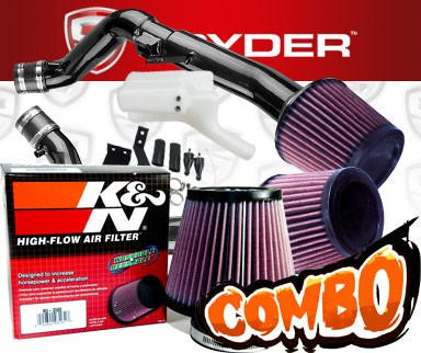 K&N® Air Filter + Spyder® Cold Air Intake System (Black) - 08-13 Infiniti G37 2dr/4dr 3.7L V6