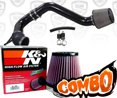 K&N® Air Filter + Spyder® Cold Air Intake System (Black) - 09-14 Acura TSX 2.4L 4cyl