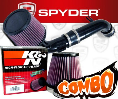 K&N® Air Filter + Spyder® Cold Air Intake System (Black) - 10-12 Ford Fusion 2.5L 4cyl