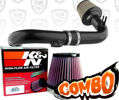 K&N® Air Filter + Spyder® Cold Air Intake System (Black) - 11-15 Chevy Cruze Turbo 1.4L 4cyl (exc. models with secondary air pump)