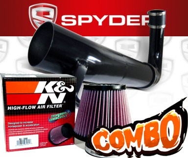 K&N® Air Filter + Spyder® Cold Air Intake System (Black) - 11-16 Dodge Challenger 3.6L V6