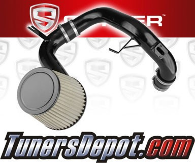 K&N® Air Filter + Spyder® Cold Air Intake System (Black) - 12-14 Honda Civic 1.8L 4cyl