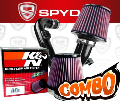 K&N® Air Filter + Spyder® Cold Air Intake System (Black) - 12-16 Chevy Sonic 1.4L Turbo 4cyl