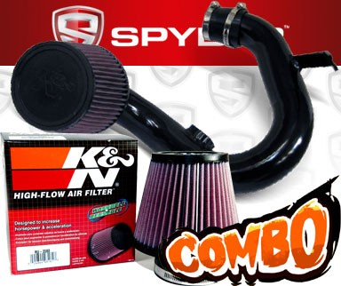 K&N® Air Filter + Spyder® Cold Air Intake System (Black) - 12-16 Chevy Sonic 1.8L 4cyl