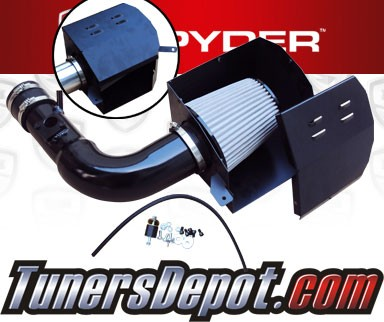 K&N® Air Filter + Spyder® Cold Air Intake System (Black) - 13-16 Scion FRS FR-S 2.0L 4cyl