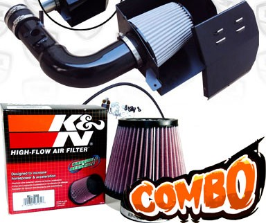 K&N® Air Filter + Spyder® Cold Air Intake System (Black) - 13-16 Subaru BRZ 2.0L 4cyl