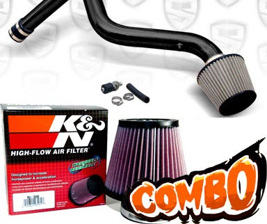 K&N® Air Filter + Spyder® Cold Air Intake System (Black) - 90-93 Honda Accord 2.2L  4cyl