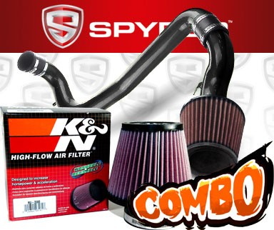 K&N® Air Filter + Spyder® Cold Air Intake System (Black) - 98-02 Chevy Cavalier 2.2L 4cyl