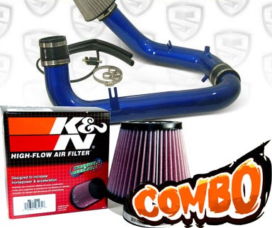 K&N® Air Filter + Spyder® Cold Air Intake System (Blue) - 00-03 Honda S2000 2.0L 4cyl