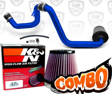 K&N® Air Filter + Spyder® Cold Air Intake System (Blue) - 00-03 Saturn S-Series DOHC 1.9L 4cyl