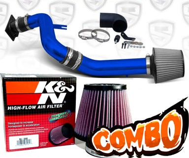 K&N® Air Filter + Spyder® Cold Air Intake System (Blue) - 00-05 Mitsubishi Eclipse GT 3.0L V6