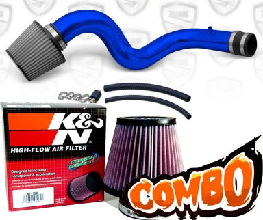 K&N® Air Filter + Spyder® Cold Air Intake System (Blue) - 01-03 Acura CL 3.2 Type-S 3.2L V6 (AT)