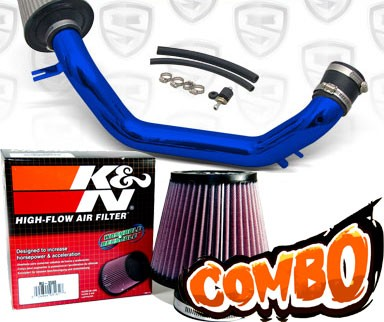 K&N® Air Filter + Spyder® Cold Air Intake System (Blue) - 03-06 Honda Accord 2.4L 4cyl (Exc. MAF Equipped)
