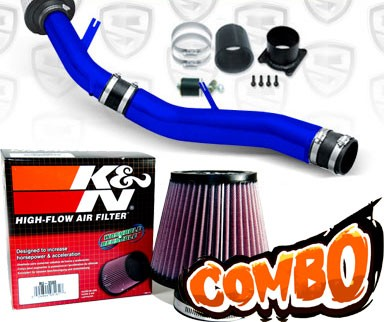 K&N® Air Filter + Spyder® Cold Air Intake System (Blue) - 03-06 Infiniti G35 3.5L V6 4dr Sedan (MT)