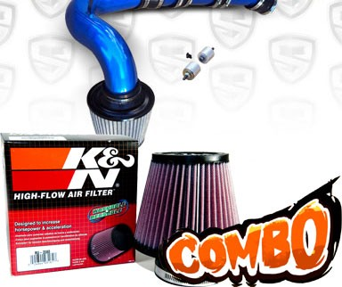 K&N® Air Filter + Spyder® Cold Air Intake System (Blue) - 04-11 Mazda RX8 RX-8 1.3L