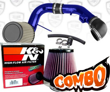 K&N® Air Filter + Spyder® Cold Air Intake System (Blue) - 05-08 Chevy Cobalt SS 2.4L 4cyl