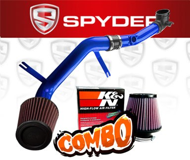 K&N® Air Filter + Spyder® Cold Air Intake System (Blue) - 06-09 Mazda MX-5 Miata 2.0L 4cyl