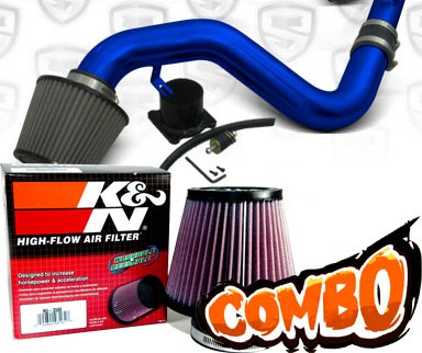 K&N® Air Filter + Spyder® Cold Air Intake System (Blue) - 06-09 VW Volkswagen Jetta 2.0T 2.0L 4cyl