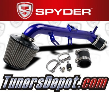 K&N® Air Filter + Spyder® Cold Air Intake System (Blue) - 06-12 Toyota Yaris 1.5L 4cyl