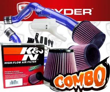 K&N® Air Filter + Spyder® Cold Air Intake System (Blue) - 07-08 Infiniti G35 4dr MT 3.5L V6