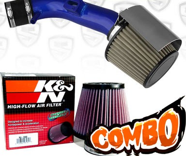 K&N® Air Filter + Spyder® Cold Air Intake System (Blue) - 07-12 Nissan Altima 2.5L 4cyl