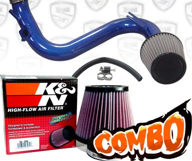 K&N® Air Filter + Spyder® Cold Air Intake System (Blue) - 07-13 Mazda Mazdaspeed 3 Turbo 2.3L 4cyl
