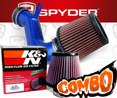 K&N® Air Filter + Spyder® Cold Air Intake System (Blue) - 08-10 Cadillac CTS 4dr 3.6L V6