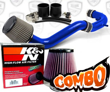 K&N® Air Filter + Spyder® Cold Air Intake System (Blue) - 08-12 Honda Accord 4cyl 2.4L