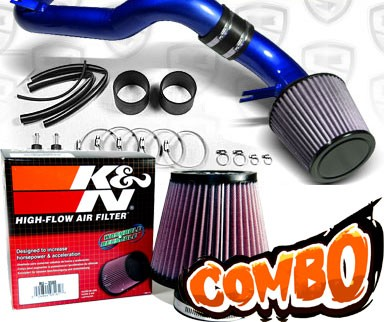 K&N® Air Filter + Spyder® Cold Air Intake System (Blue) - 08-12 Honda Accord V6 3.5L