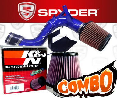 K&N® Air Filter + Spyder® Cold Air Intake System (Blue) - 11-14 Kia Optima Turbo 2.0L 4cyl