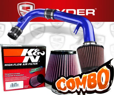 K&N® Air Filter + Spyder® Cold Air Intake System (Blue) - 11-15 Chevy Cruze Non-Turbo 1.8L 4cyl (Exc. models with secondary air pump)