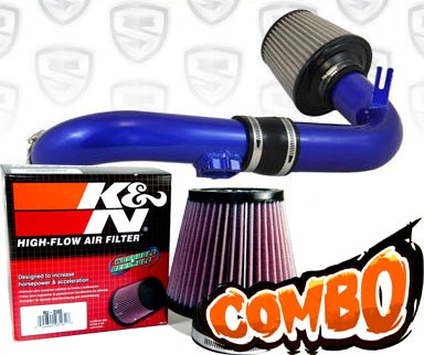 K&N® Air Filter + Spyder® Cold Air Intake System (Blue) - 11-15 Chevy Cruze Turbo 1.4L 4cyl (exc. models with secondary air pump)