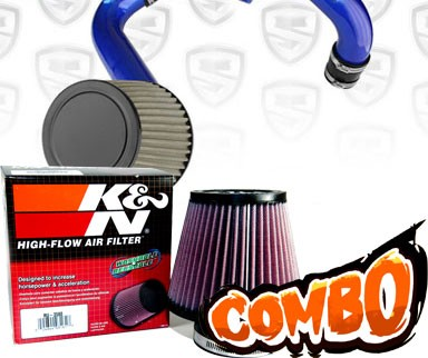 K&N® Air Filter + Spyder® Cold Air Intake System (Blue) - 12-14 Honda Civic 1.8L 4cyl
