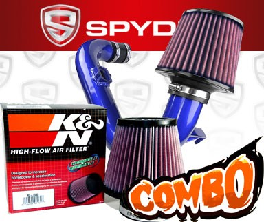 K&N® Air Filter + Spyder® Cold Air Intake System (Blue) - 12-16 Chevy Sonic 1.4L Turbo 4cyl