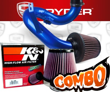 K&N® Air Filter + Spyder® Cold Air Intake System (Blue) - 12-16 Chevy Sonic 1.8L 4cyl