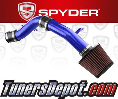 K&N® Air Filter + Spyder® Cold Air Intake System (Blue) - 12-16 Hyundai Accent 1.6L 4cyl