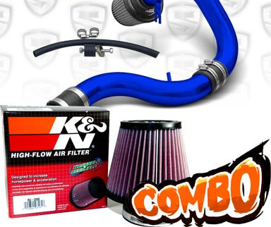K&N® Air Filter + Spyder® Cold Air Intake System (Blue) - 90-93 Acura Integra 1.7L/1.8L 4cyl