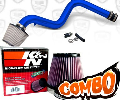 K&N® Air Filter + Spyder® Cold Air Intake System (Blue) - 90-93 Honda Accord 2.2L  4cyl