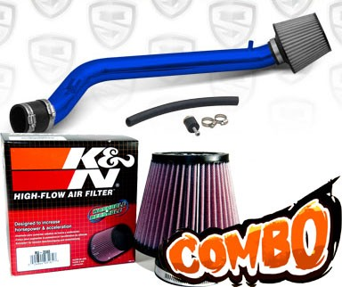 K&N® Air Filter + Spyder® Cold Air Intake System (Blue) - 93-97 Honda Del Sol SOHC 1.5L/1.6L 4cyl