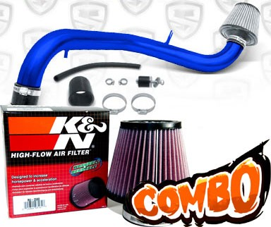 K&N® Air Filter + Spyder® Cold Air Intake System (Blue) - 94-00 Acura Integra GSR Vtec 1.8L 4cyl