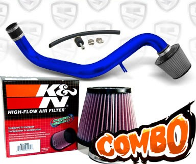 K&N® Air Filter + Spyder® Cold Air Intake System (Blue) - 94-01 Acura Integra Non-Vtec 1.8L 4cyl