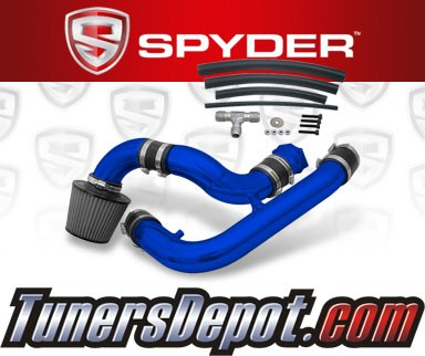 K&N® Air Filter + Spyder® Cold Air Intake System (Blue) - 95-96 Nissan 240SX 2.4L 4cyl