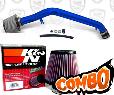 K&N® Air Filter + Spyder® Cold Air Intake System (Blue) - 96-98 Honda Civic EX 1.6L 4cyl