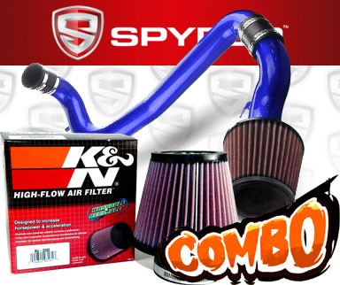 K&N® Air Filter + Spyder® Cold Air Intake System (Blue) - 98-02 Chevy Cavalier 2.2L 4cyl