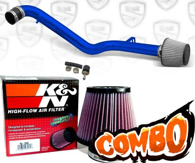 K&N® Air Filter + Spyder® Cold Air Intake System (Blue) - 98-02 Honda Accord 2.3L 4cyl