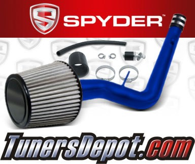 K&N® Air Filter + Spyder® Cold Air Intake System (Blue) - 99-00 Honda Civic EX 1.6L 4cyl
